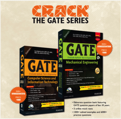 Pearson launches new book to crack GATE'16 Examination