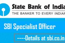SBI SO Notification 2015-16 Out