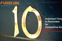 10 Important Things while Preparing for Competitive Exams