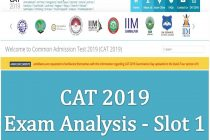 CAT 2019 Slot 1 Analysis and Expected Cutoff