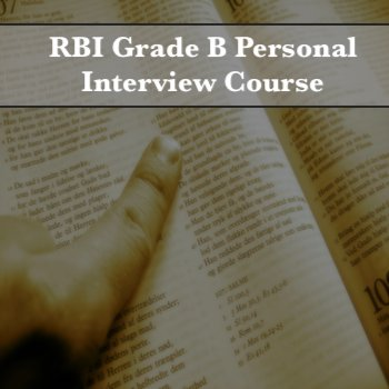 RBI Grade B Personal Interview Course