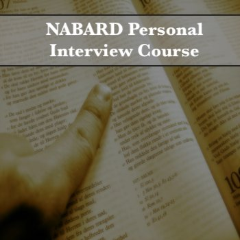 NABARD Personal Interview Course